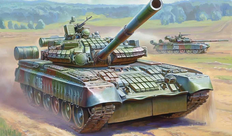 танк, бв, основной, пушка, мм, боевой, российский, zvezda, набор,