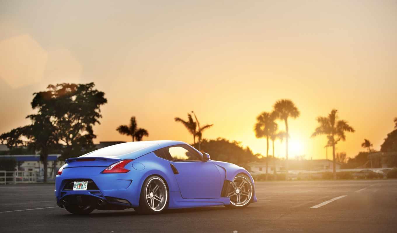 nissan, blue, rear, тюнинг, картинка,
