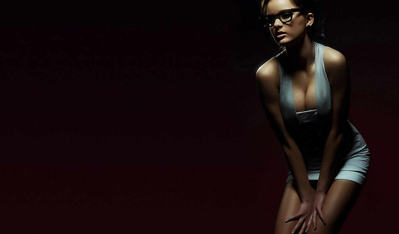 брюнетка, девушка, девушки, девушек, красивые, очки, красивых,