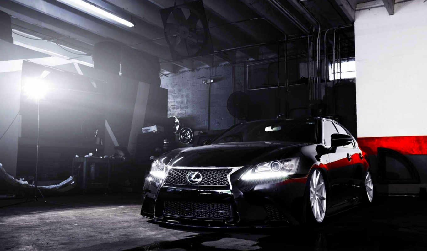 lexus, vossen, wheels, gs, black, февр,
