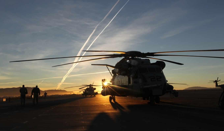без, широкоформатные, авиация, можно, вертолеты, закат,