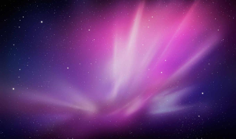 космос, туманность, феолетовый, галактика, mac, apple, leopard, snow, картинка,