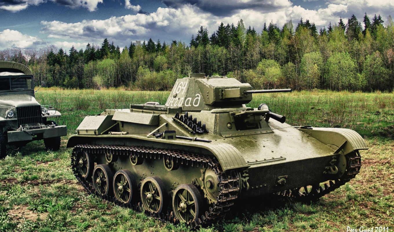 танк, рисунок, техника, лес, военная, оружие,