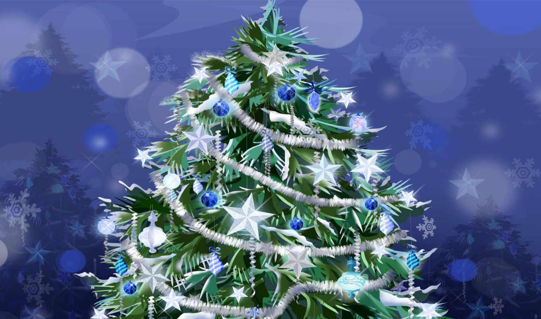новогодняя, дерево, дек, card, елки, елочные, шарики, новогодние,