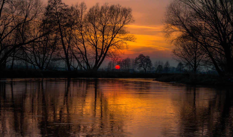 дек, деревя, красивые, столе, you, закат, природа, рабочем, регулировать, можешь,
