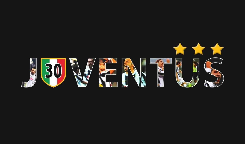 juventus, 尤文图斯队徽宽屏壁纸, клуб, футбол,