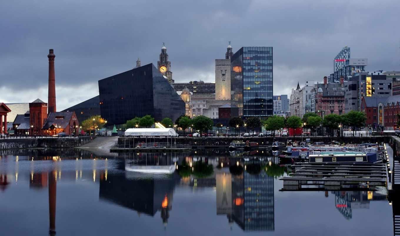 ливерпуль, город, англия, города,