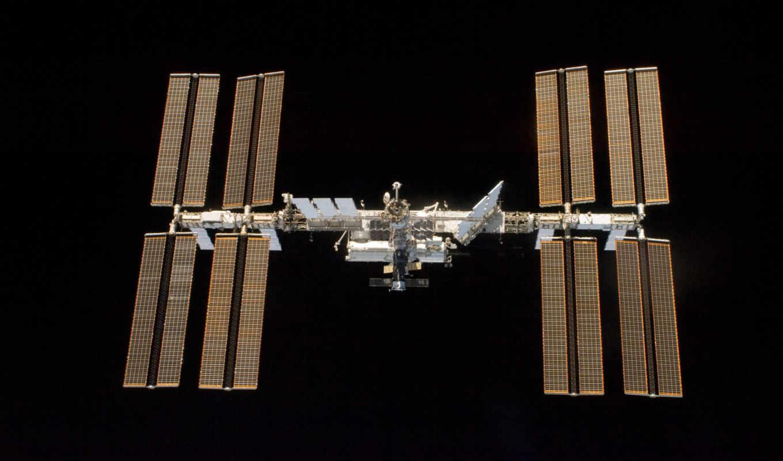 космос, мкс, arrays, солнечный, батареи, множество, солнечных, final,