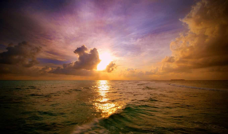 rising, rays, sun, солнца, утро, небо, природа, landscape, свет, лес,
