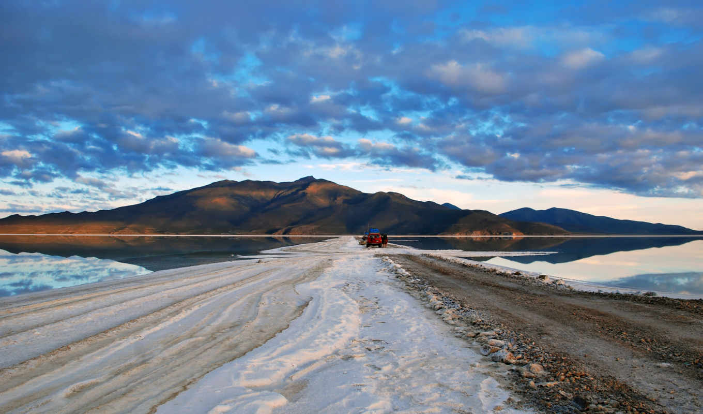 соляная, широкоформатные, пустыня, дорога,