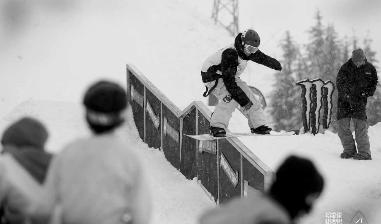 спорт, сноубординг, сноуборд, спуск, адреналин, экстрим, белое, парни, чёрно, соревнования,