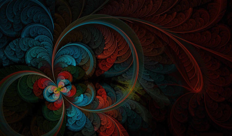 перья, рисунок, абстракция,