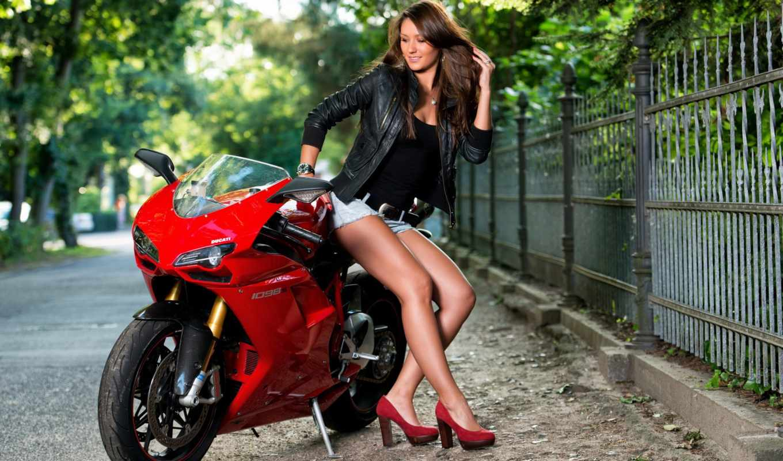 мотоцикл, devushka, poza, devushki,