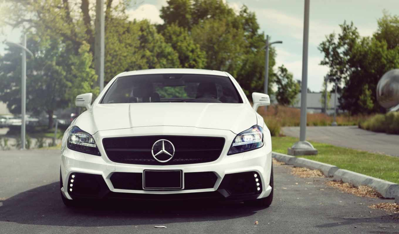 mercedes, benz, мерседес, white, дороге, cls, amg,