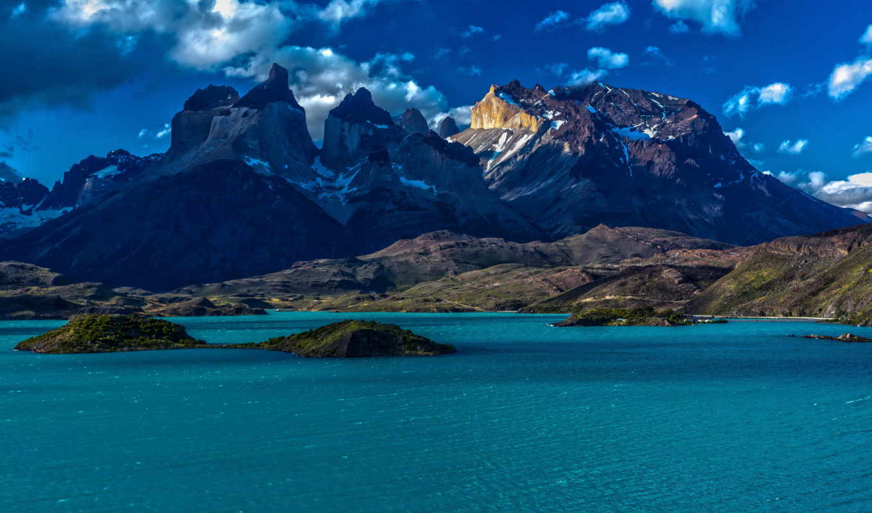 chile, patagonia, горы, патагония, природа, небо, картинка,
