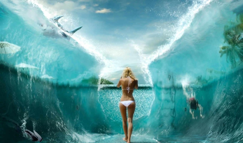magic, water, girl,