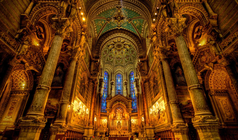 собор, парижской, богоматери, орган, собора, париж,
