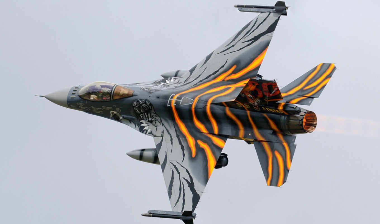 самолёт, июня, поворот, реактивный, полет, falcon, картинка, fighting, истребитель, военный,