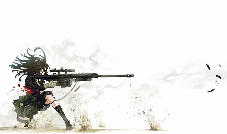barrett, снайпер, девушка,