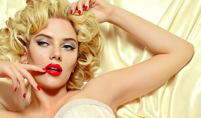 red, макияж, скарлетт, помаде, johansson