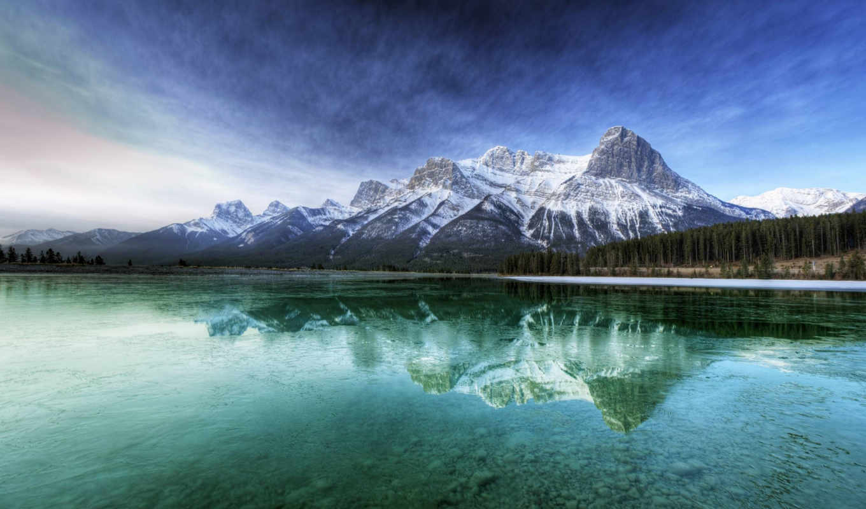 htc, one, лес, горы, облака, mobile, телефон, smartphone, iphone, смотрите, ёль,