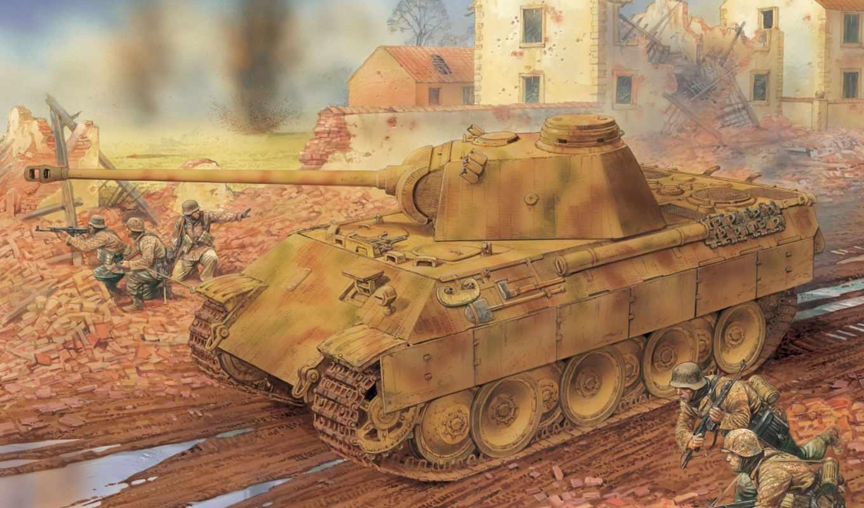 дракон, panther, танк, kfz, sd, масштаб, zimmerit, немецкий,