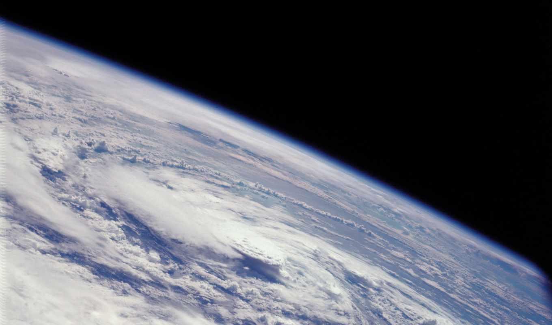 атмосфера, планета, облака, циклон, смотрите,