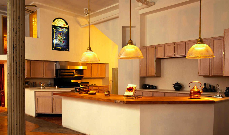 кухня, фото, светлая, дизайн, большая, мебель, обои,