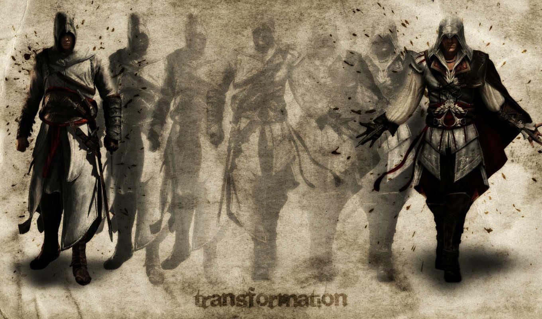 альтаир, трансформация, creed, assassins, арт, assassin, картинка, убийца, кредо, картинку, игры,