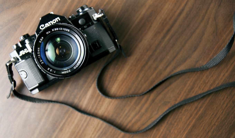 canon, camera, wood, объектив, цифровые