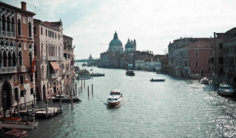 canal, venice, grand, basilica, картинка, san, marco, ди,