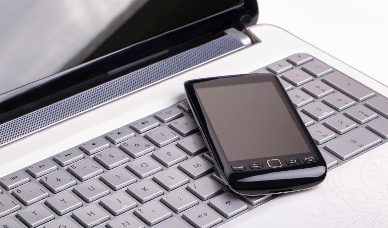 ,ноутбуки, смарфон, клавиатура,