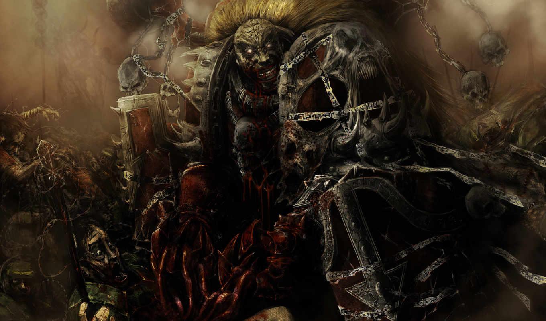 warhammer, рассвет, rising, war, chaos, ваши, ужасы,