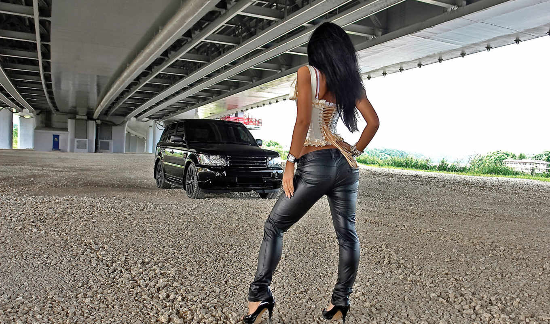 девушка, rover, картинка, крутая, тачка, четкая, jpeg, land, range,