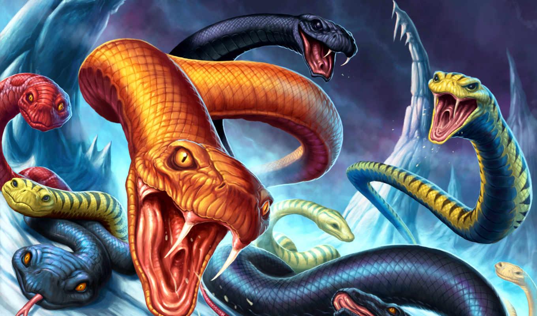 daveallsop, serpent, nest, this, serpents, fantasy, марта,