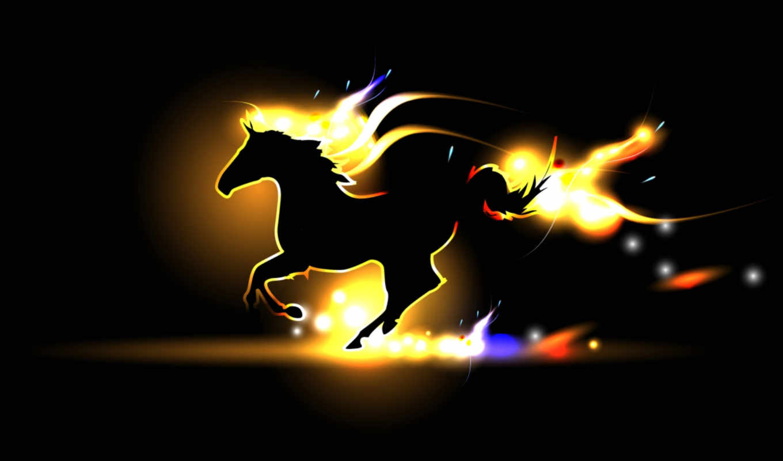 fogo, силуэт, parede, cavalo, papel, дек, лошадь, унафэ, лошади, за,