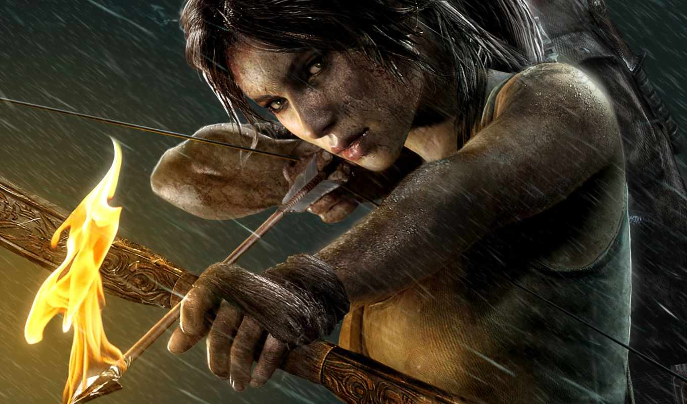 tomb, raider, взлёт, widescreen, free, desktop, animated,