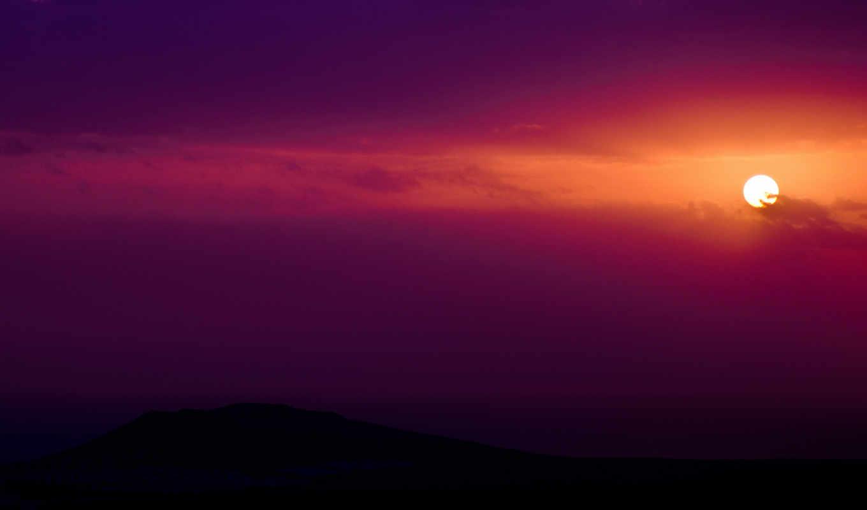 небо, закат, sun, вечер, яркий, облака, оранжевый, нов,