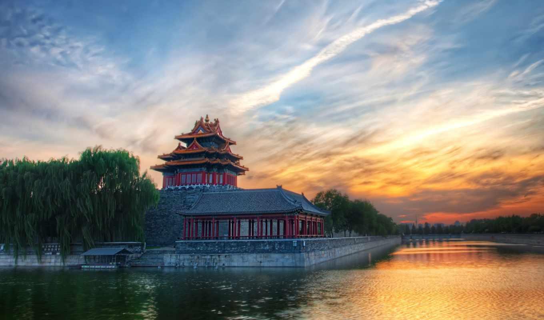 china, река, water, house,