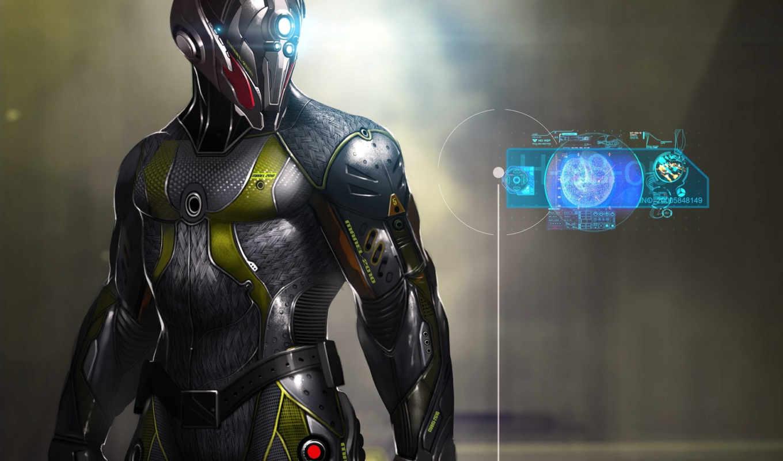 cyborg, skin, robot, art,