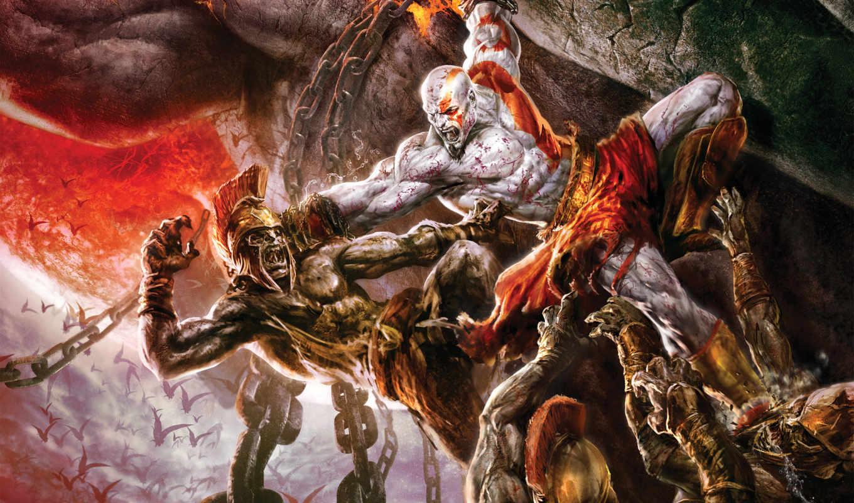 картинка, god, war, игра, эпизод, войны, games, õ½éñ, сражение, кратос, картинку,