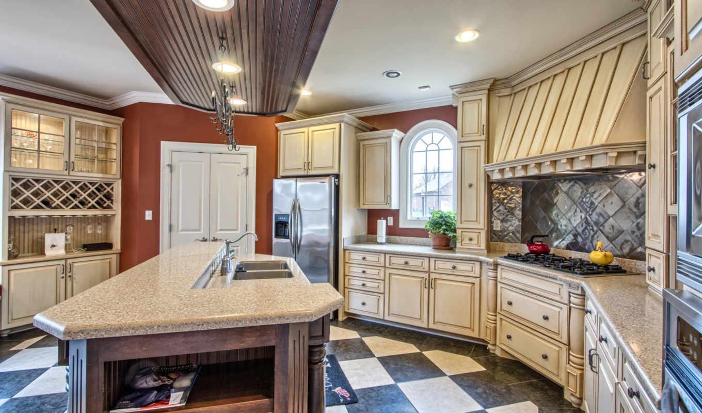 кухня, стол, интерьер,