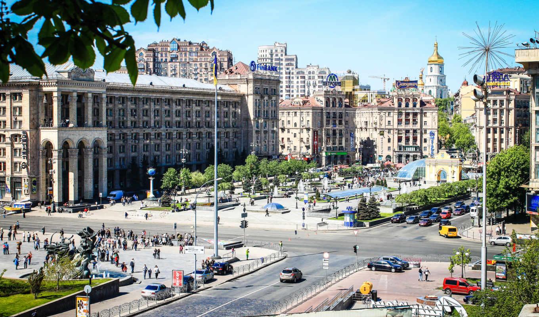 киев, ukraine, столица, майдан, площадь, февр,
