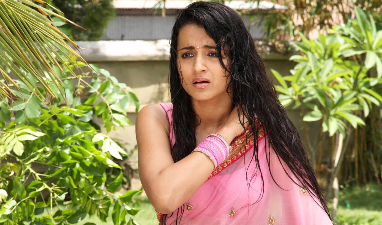trisha, hot, aranmanai, photos, saree, krishnan, розовый, актриса, wet,