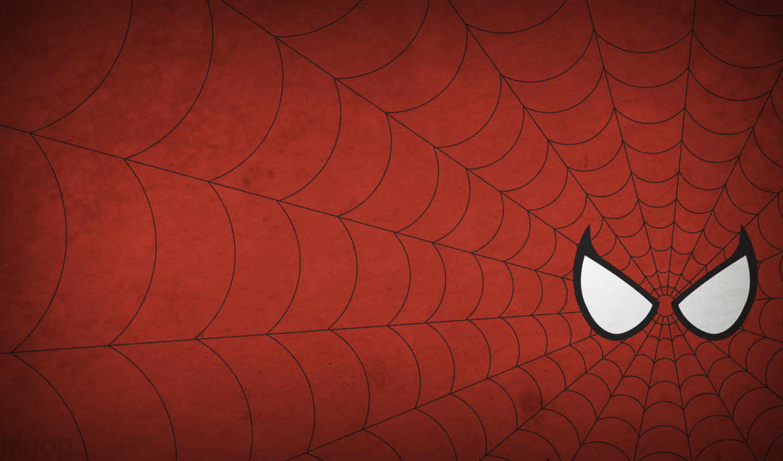 ,красный, человек, паук