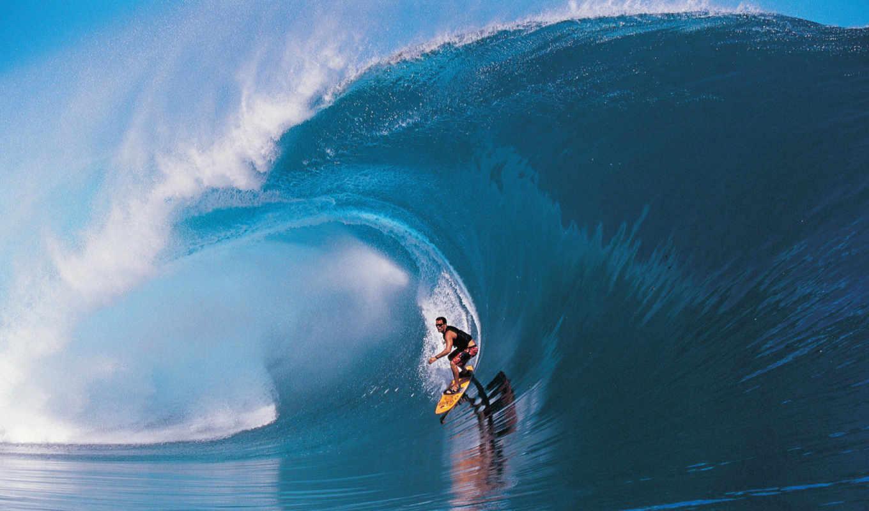 wave, surf, surfing, big, tahiti, таити, teahupoo, доске, под, волной, description, surfer, спорт,