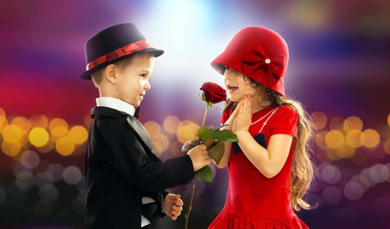 love, valentine, день, little, девушка, пара, boy, kartinka, ретро, роза, романтика,