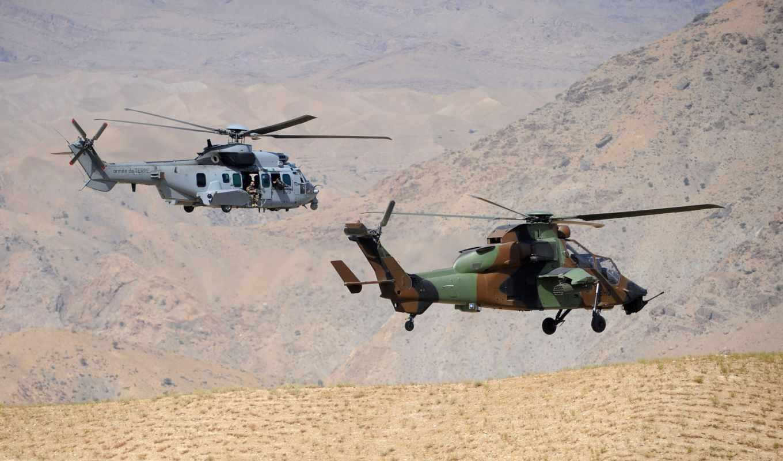 авиация, tigre, les, sur, вертолет, afghanistan,