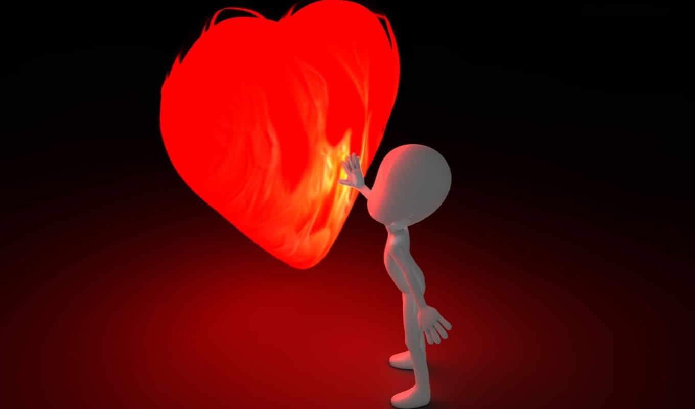 маленький, человечек, сердце, большое,