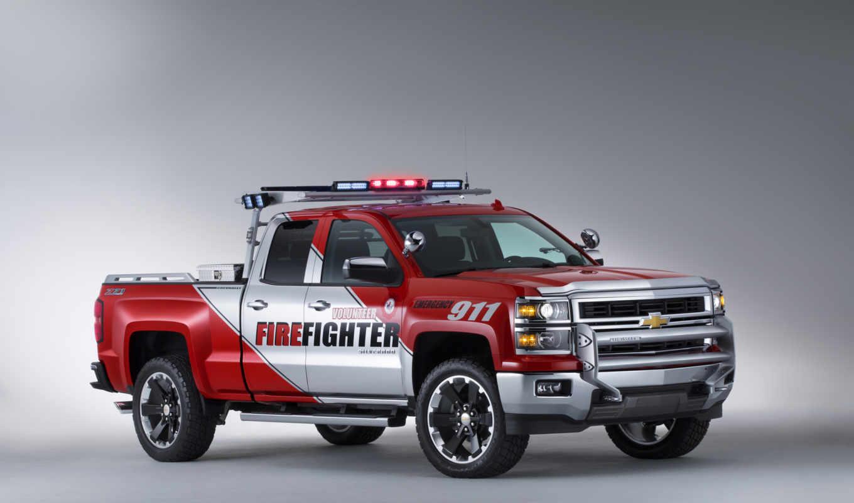 chevrolet, silverado, volunteer, firefighter, concept, truck,